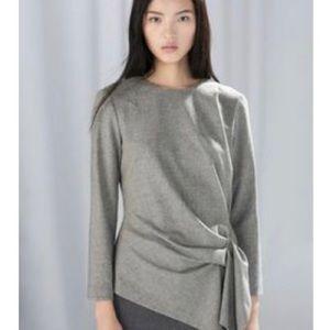 Zara Asymmetrical Grey Top